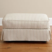 Friday Stripe Slipcovered Ottoman