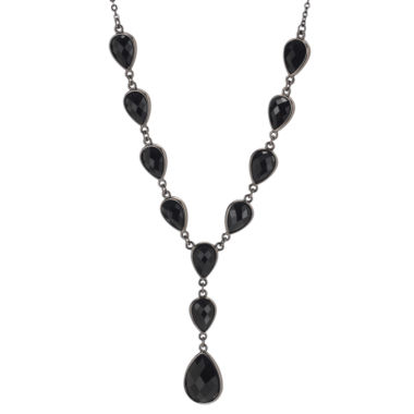 jcpenney.com | Jet Cabochon Y Chain Necklace