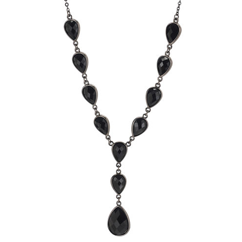 Mixit™ Jet Cabochon Y Chain Necklace