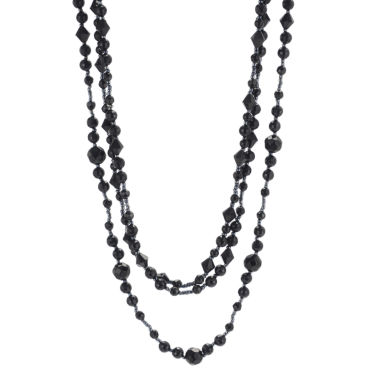 jcpenney.com | Triple-Strand Jet Black Bead Necklace