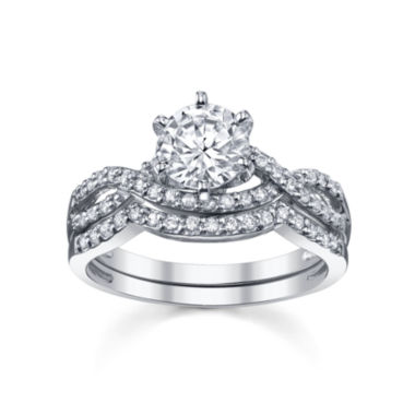 jcpenney.com | Diamonore™ Simulated Diamond Bridal Set 1-1/3 CTW