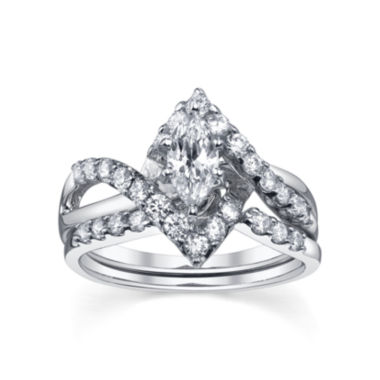 jcpenney.com | Diamonore™ Simulated Diamond Bridal Set 1.25 CTW