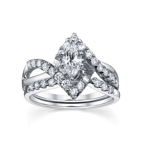 Diamonore™ Simulated Diamond Bridal Set 1.25 CTW