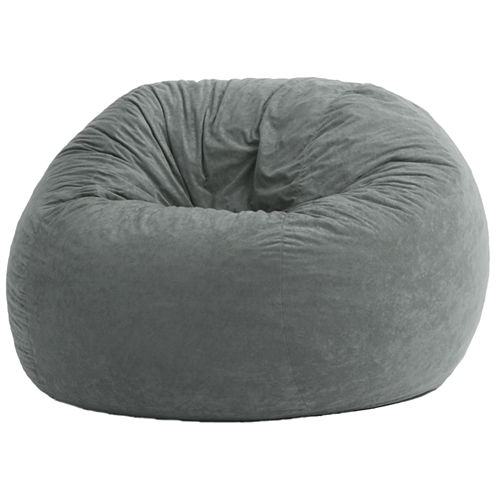 4' Large Suede Fuf Beanbag Chair