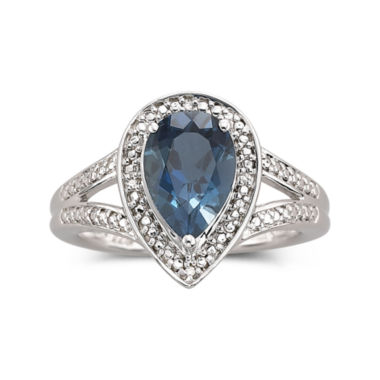 jcpenney.com | London Blue Topaz Ring with Diamond Accents