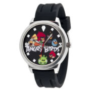 Angry Bird Black Dial Multi Bird Rubber Strap Watch