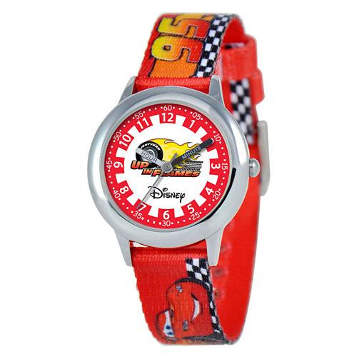 Time Teacher Cars Kids Red Watch