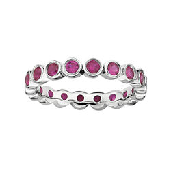 Gemstone Stackable Eternity Band
