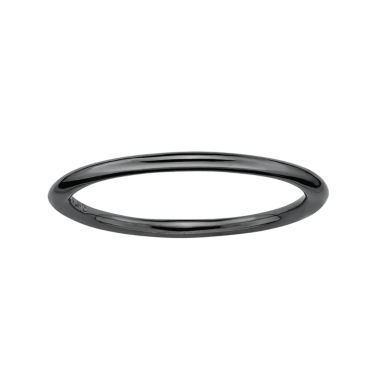 jcpenney.com | Personally Stackable Black-Plated Sterling Silver Stackable Ring