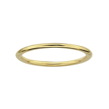 jcpenney.com | Personally Stackable 18K Yellow Gold Over Sterling Silver Ring