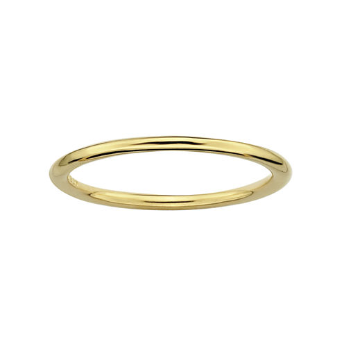 Personally Stackable 18K Yellow Gold Over Sterling Silver Ring