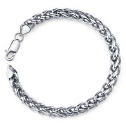 Maksim Stainless Steel Wheat Bracelet