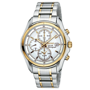 jcpenney.com | Seiko® Mens Two-Tone Multifunction Solar Watch SSC002