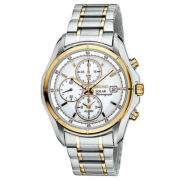Seiko® Mens Two-Tone Multifunction Solar Watch