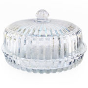 Alexandria Crystal Pie Plate With Dome
