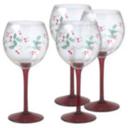 Pfaltzgraff® Winterberry Set of 4 Wine Goblets