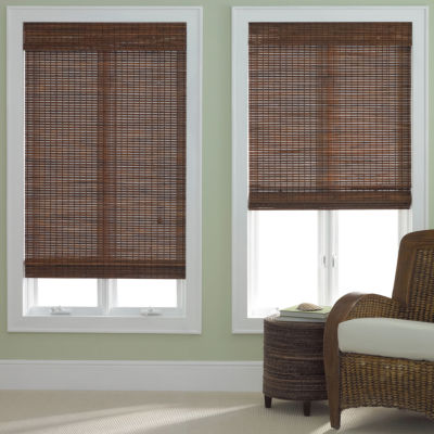wood roman shades. JCPenney Home™ Bamboo Woven Wood Roman Shade Shades