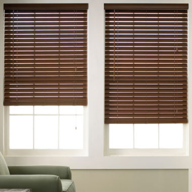 "jcpenney.com | JCPenney Home™ 2"" Wood Tone Faux-Wood Horizontal Blinds"
