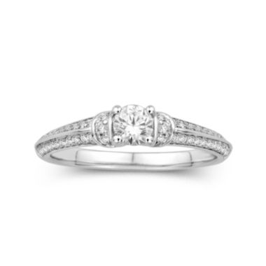 jcpenney.com | 1/2 CT. T.W. Diamond 14K White Gold Engagement Ring