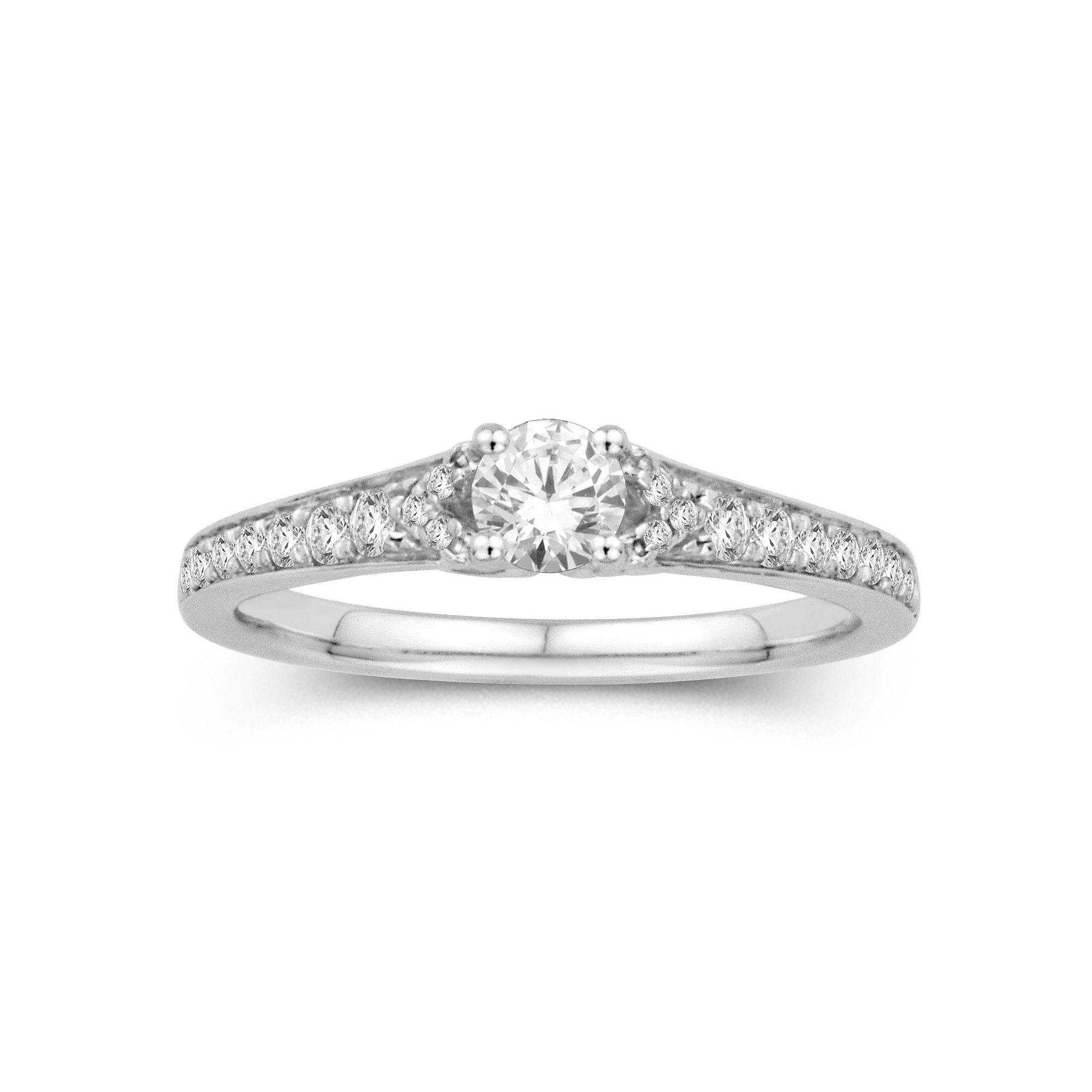 Tw 14k White Gold Diamond Ring Jcpenney