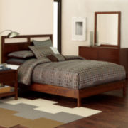 Linear Light Walnut-Stained 5-pc. Bedroom Set