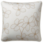 Liz Claiborne Brooke Sq. Floral Decorative Pillow