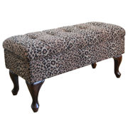 Chez Leopard Storage Bench