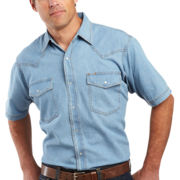 Ely Cattleman® Denim Snap Shirt – Big & Tall