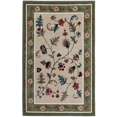Flower Patch Washable Rectangular Rug Jcpenney