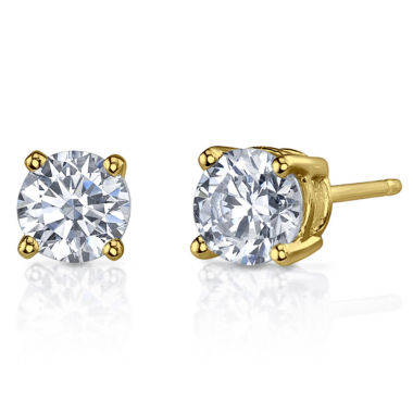 jcpenney.com | 1 CT. T.W. Diamonore™ Simulated Diamond 14K Yellow Gold Stud Earrings