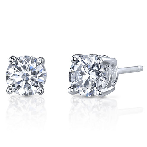 Simulated Diamond, Diamonore™ Studs 1 CT. T.W. 14K