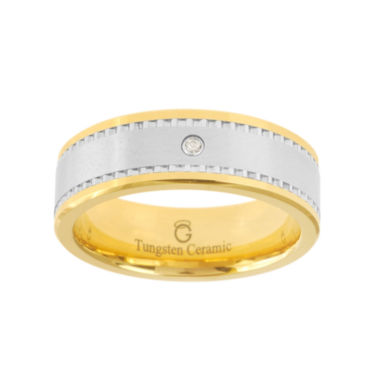 jcpenney.com |  Ceramic & Tungsten Ring with Diamond Accent