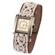 Decree® Womens Lace Fashion Watch