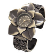Decree® Womens Flower Bangle Watch