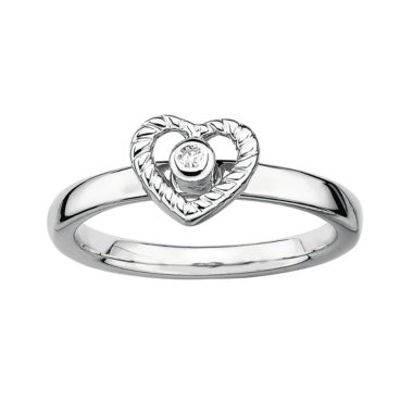 jcpenney.com | Personally Stackable Diamond-Accent Heart Stackable Ring