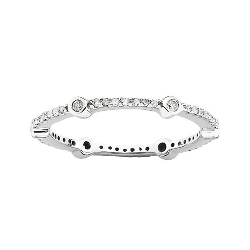 Personally Stackable 1/4 CT. T.W. Diamond Ring