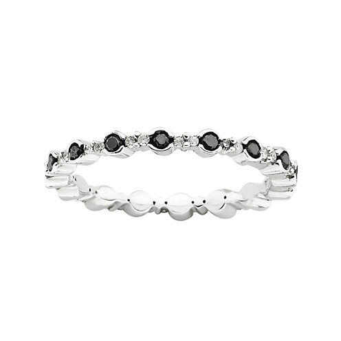 Personally Stackable Color-Enhanced Black Diamond Ring