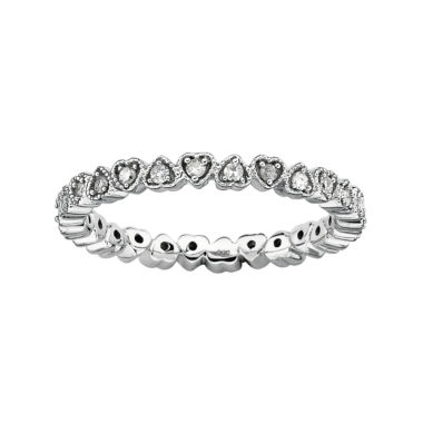 jcpenney.com | Personally Stackable 1/4 CT. T.W. Diamond Heart Ring