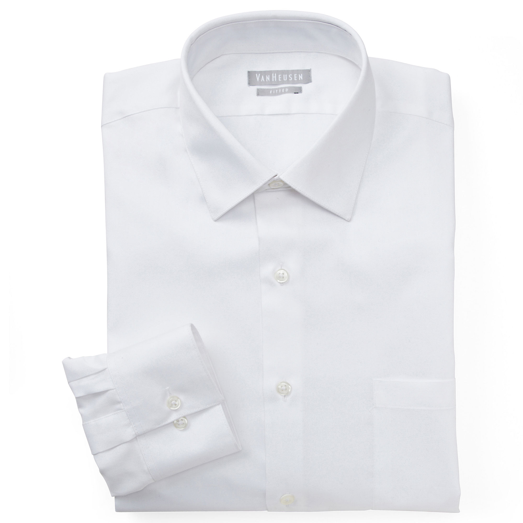 Upc 88543230207 van heusen no iron lux sateen dress for Van heusen iron free shirts