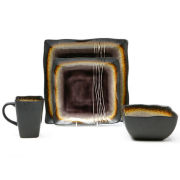 Galaxy Plum 16-Piece Dinnerware Set