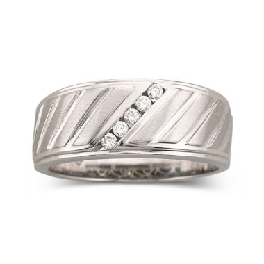 jcpenney.com | Mens 1/8 CT. T.W. Diamond Band Sterling Silver