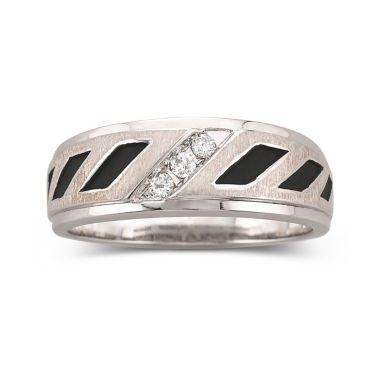 jcpenney.com | Mens 1/10 CT. T.W. Diamond 2-Tone Sterling Band