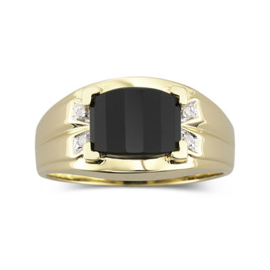 jcpenney.com | Mens Onyx & Diamond-Accent Ring