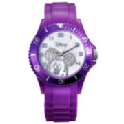 Disney Mickey Mouse Purple Resin Crystal Accent Watch