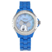 Disney Blue Enamel Crystal Accent Mickey Watch
