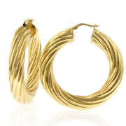 Twist Hoop Earrings 14K/Bronze