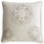 Royal Velvet® Serene Embroidered Square Pillow