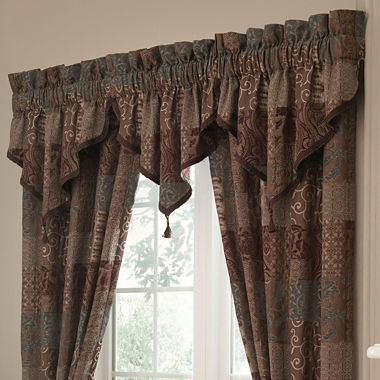 Curtains Ideas brown valance curtains : Croscill Classics® Catalina Brown 2-Pack Curtain Panels - JCPenney