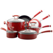 Circulon® Contempo Red 10-pc. Cookware Set + BONUS
