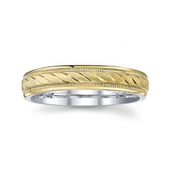 BEST VALUE! Wedding Band, Womens 4mm 10K/SS